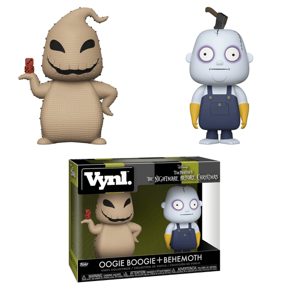 Oogie Boogie and Behemoth Funko VYNL set Nightmare Before Christmas