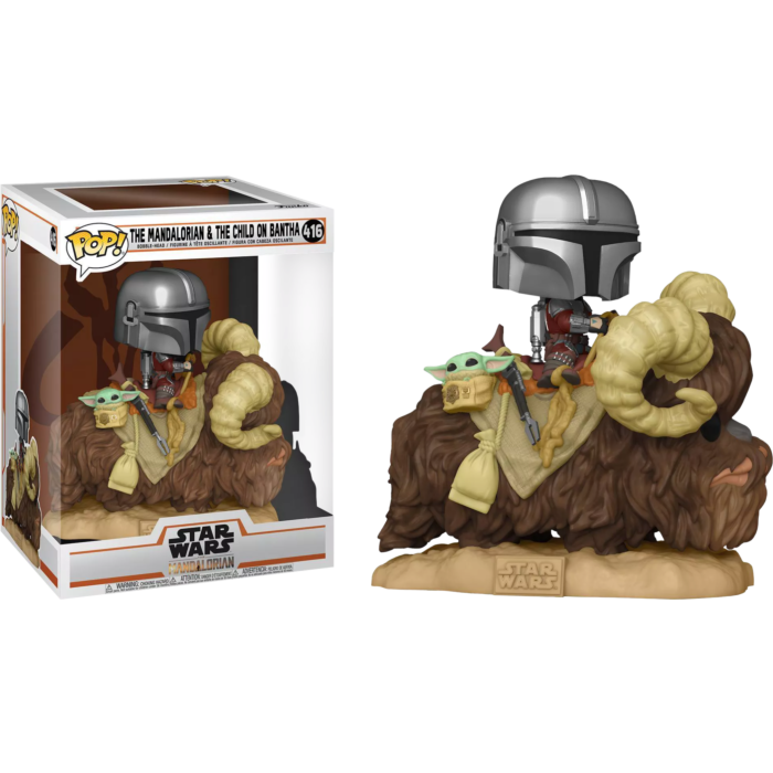 The Mandalorian and The Child On Bantha Funko Pop