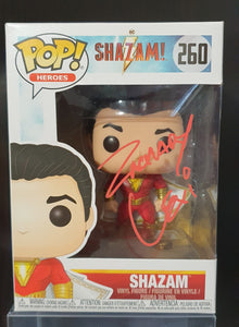 SHAZAM! Signed Funko Pop Genuine.