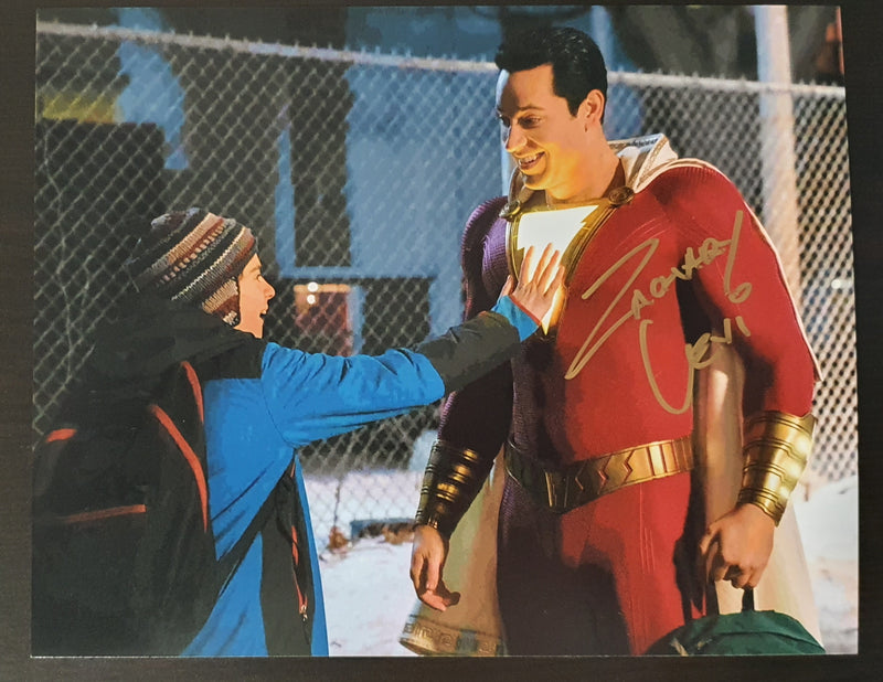 Signed In Person Zachary Levi as SHAZAM