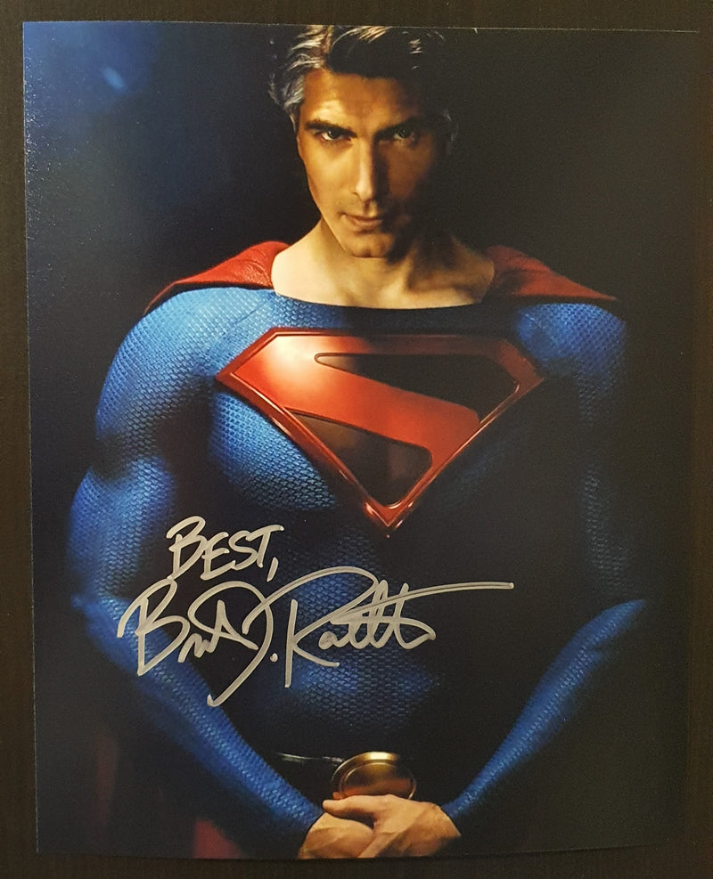 Signed In Person Brandon Routh as Kingdom Come Superman.