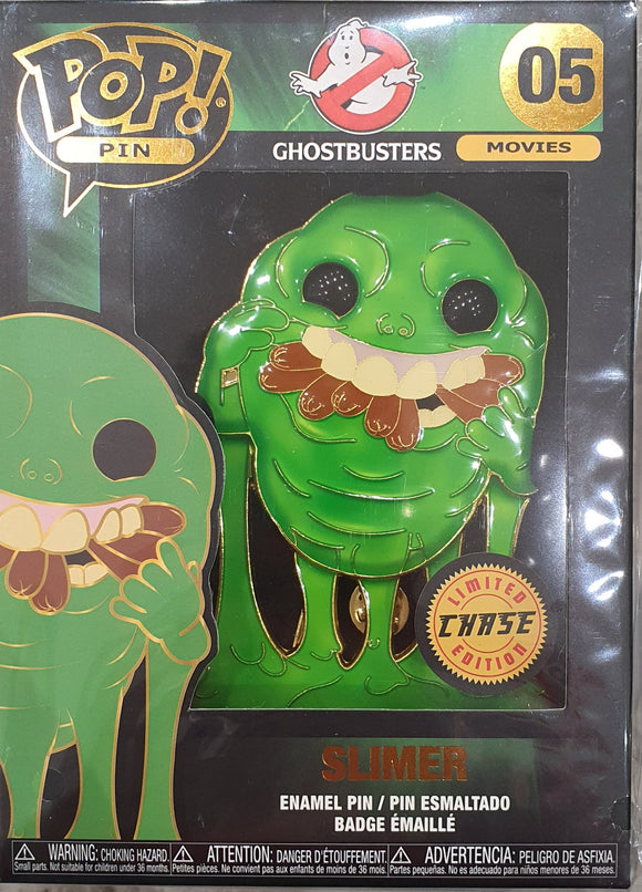 Slimer Ghostbusters Funko Pop Pin Badge Chase version