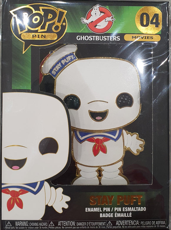 Stay Puft Ghostbusters Funko Pop Pin Badge