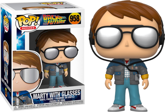 Marty with Glasses Back to the Future Funko Pop Number 958