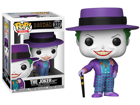 The Joker 1989 Batman Movie Funko Pop Number 337 plus chance of a Chase