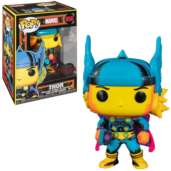Thor Marvel Black Light Glowing Funko Pop special Edition