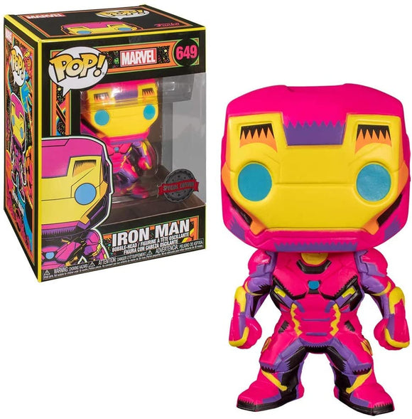 Iron Man Marvel Black Light Glowing Funko Pop special Edition