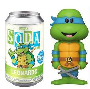 Leonardo opened Turtles Funko Soda Figure
