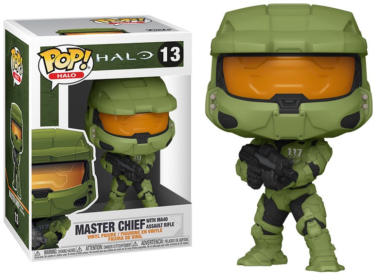 Halo Master chief with MA40 Asdault Rifle Funko Pop
