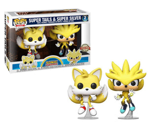 Super Tails And Super Silver Special Edition funko pop twin Pack
