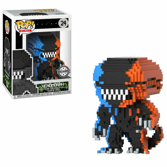 Xenomorph Alien 8 Bit  Exclusive funko pop Orange and blue
