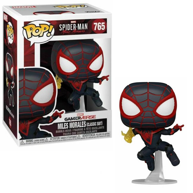 Miles Morales in Classic Suit Funko Pop from Spiderman Gamerverse
