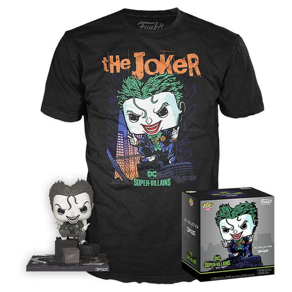 Joker B&W Jim Lee Funko Exclusive with T Shirt