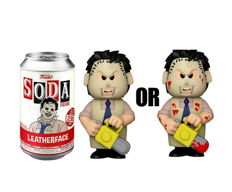 Leatherface from Texas Chainsaw massacre funko soda figure