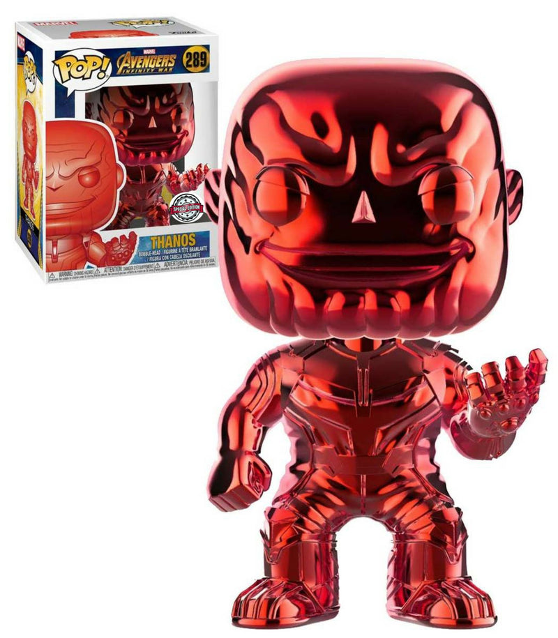 Thanos Red Chrome Avengers Funko Pop Special Edition