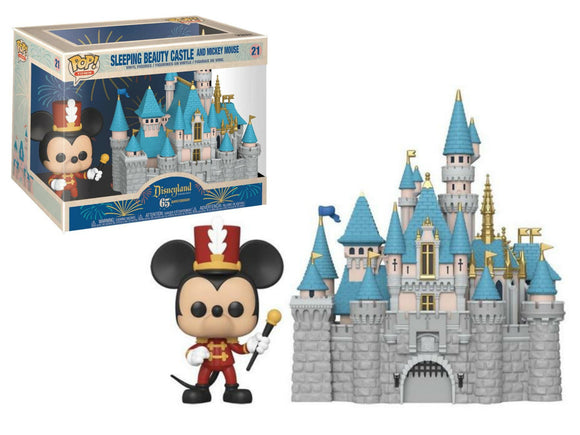 Mickey Mouse and Sleeping Beauty Castle Funko pop Disney 65th anniversary