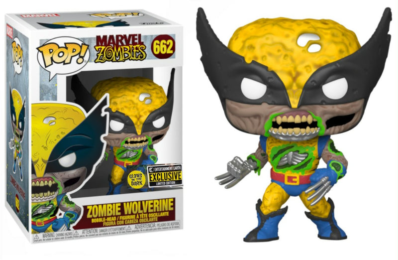 Zombie Wolverine Entertainment Earth Exclusive GID Funko Pop