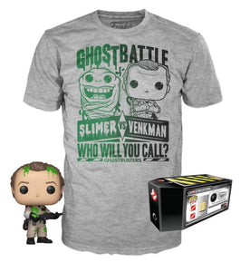 Ghostbusters Dr Peter Venkman Funko Pop and T Shirt set