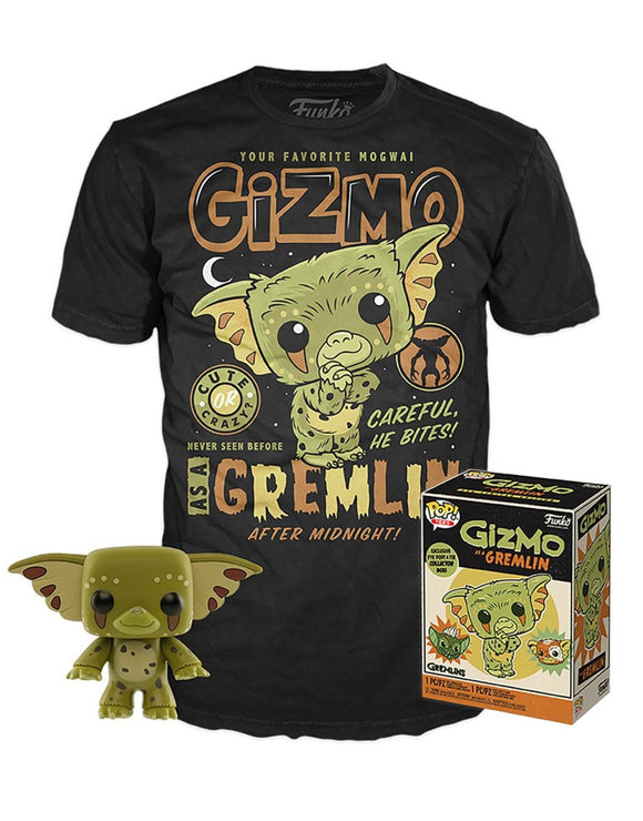 Gremlins Gizmo Funko Pop and T Shirt set