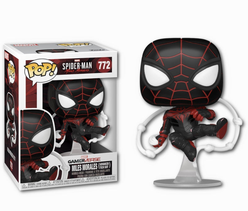 Miles Morales Advanced Tech Suit Spiderman Funko pop from Gamerverse