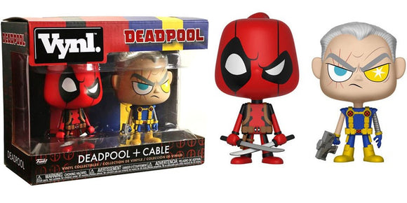 VYNL MARVEL COMICS DEADPOOL & CABLE VINYL FIGURE 2 PACK (2017) FUNKO DUO
