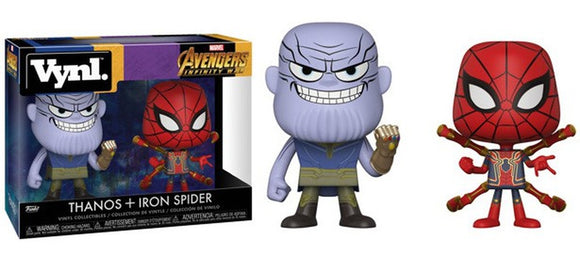 New - Funko Vynl - Marvel - Avengers Infinity War - Thanos and Iron Spider