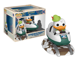 Matterhorn Bobsleds Attraction and Donald Duck Disneyland 65th anniversary Funko pop