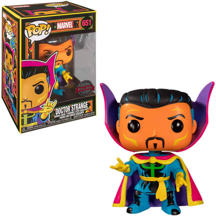 Dr Strange Marvel Black Light Glowing Funko Pop special Edition