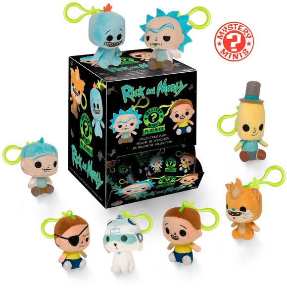 Rick and Morty Plush Keychain Funko Mystery Minis Exclusives