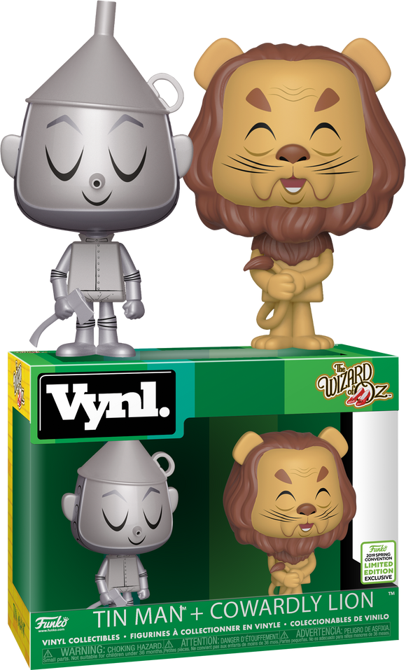 Tin Man and Cowardly Lion Funko VYNL Figure Exclusive Set