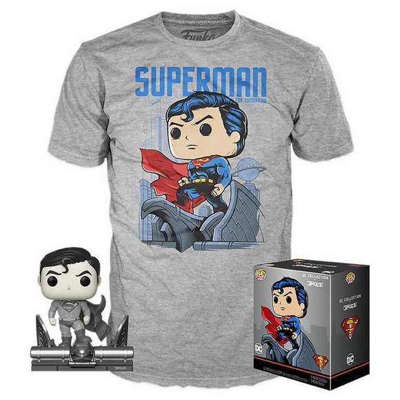 Superman B&W Jim Lee Funko Exclusive and T shirt Set