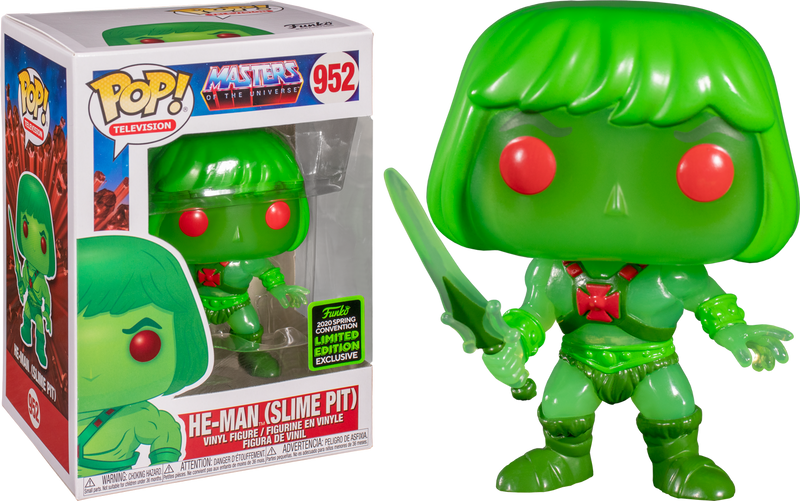 Slime Pit He-Man Funko Pop Vinyl MOTU With ECCC 2020 Exclusive Sticker