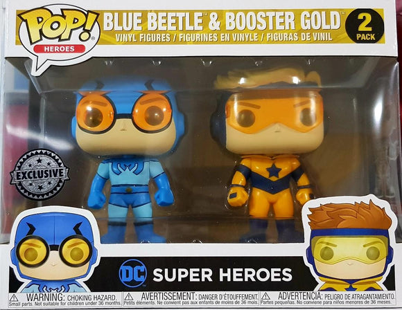Blue Beetle And Booster Gold Funko Pop Exclusive Set
