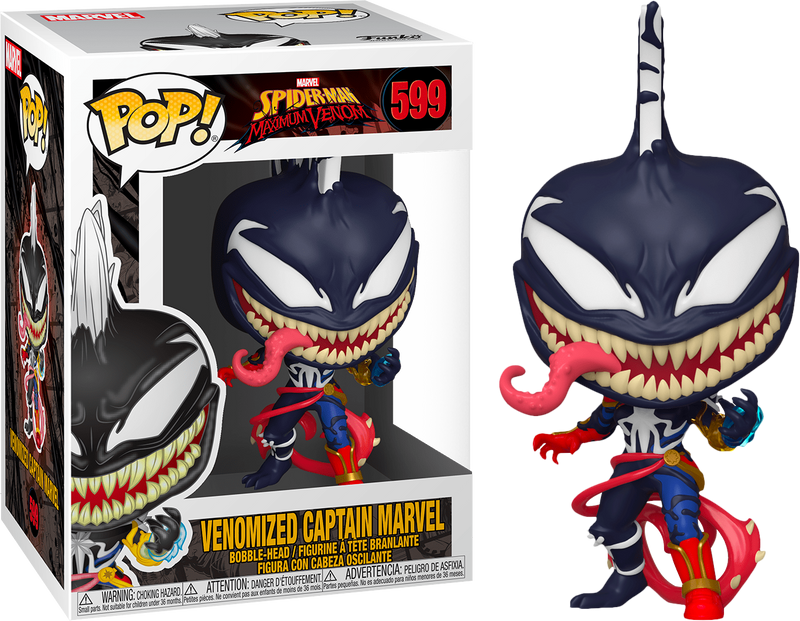 Spiderman Maximum Venom Captain Marvel Funko