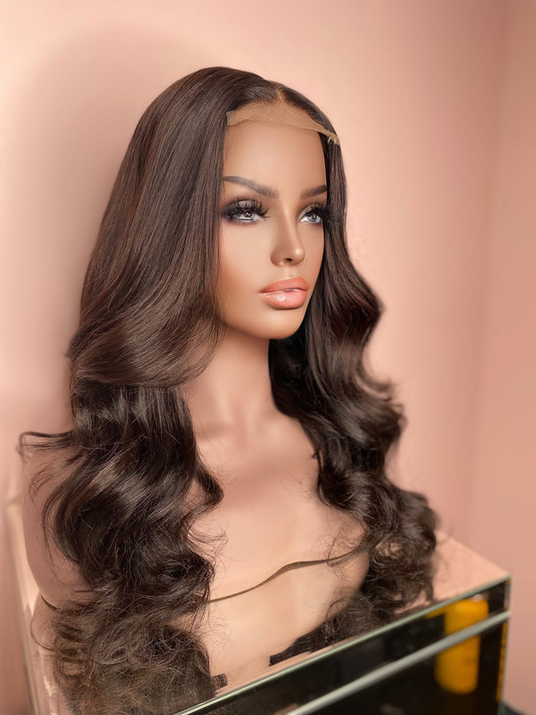 """Kenzi"" Glueless Lace Closure Wig"