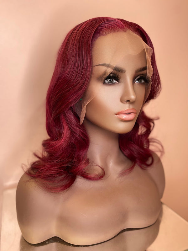 """Rose"" Glueless Front Lace Wig"