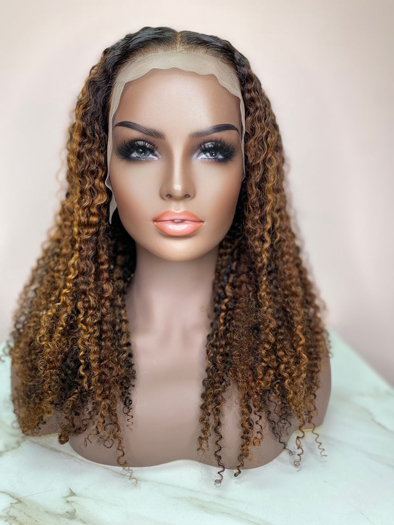 """CoCo"" Kinky Curly Glueless Front Lace Wig"