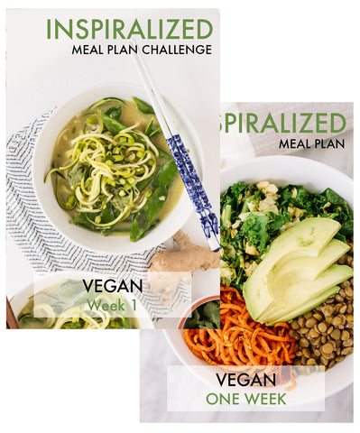 Inspiralized Meal Plan, Vegan, Weeks 1 & 2