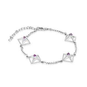 Load image into Gallery viewer, Pixie Motif Gemstone Bracelet - Sterling Silver