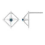 Enchant Motif Gemstone Earrings - Sterling Silver
