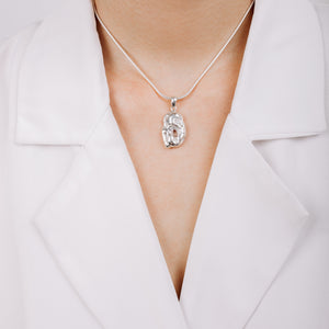 Load image into Gallery viewer, Buy Sterling Silver Strength Necklace