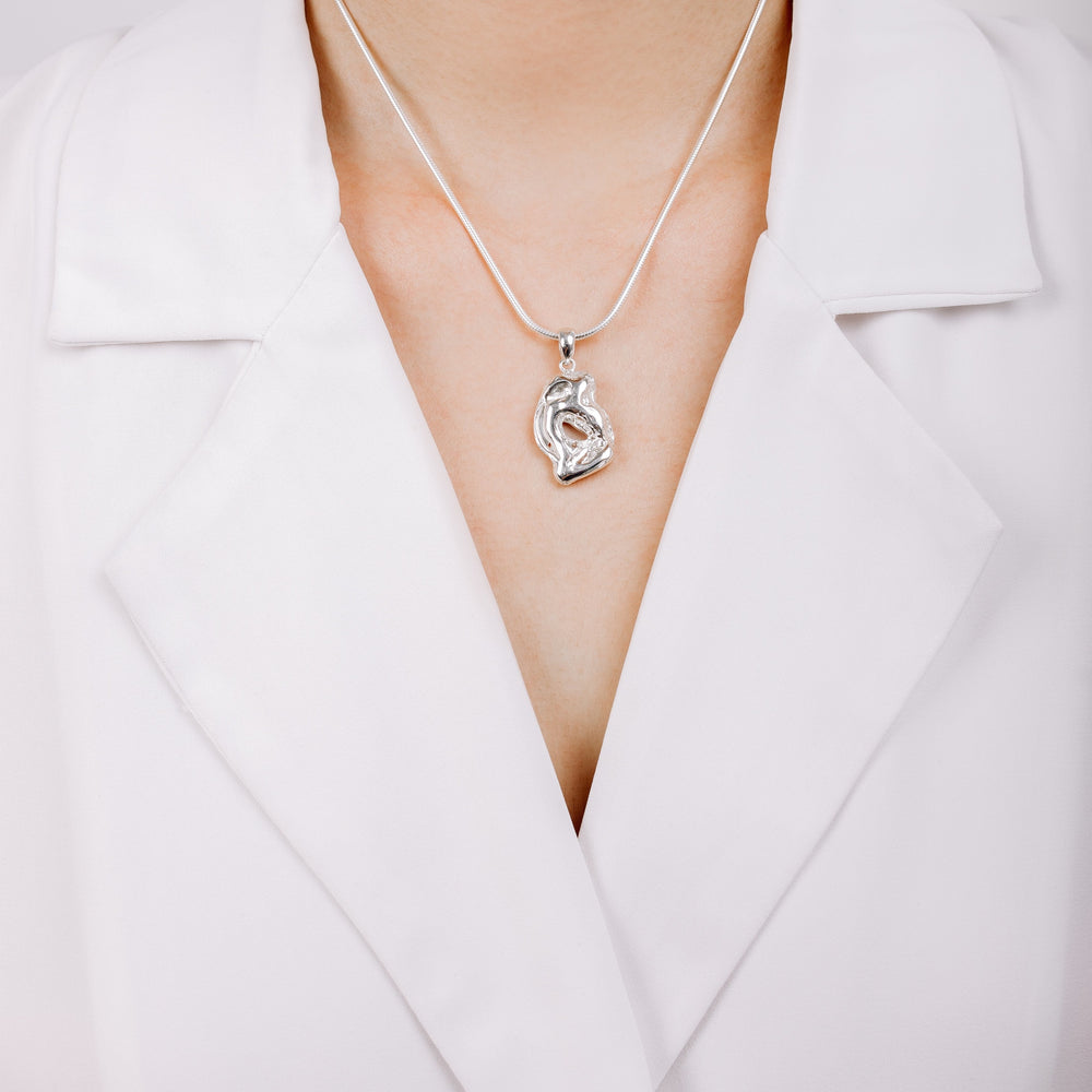 Load image into Gallery viewer, Buy Sterling Silver Embrace Necklace