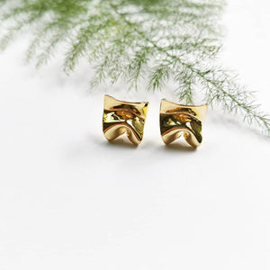 Divine Gold Plated Stud Earrings