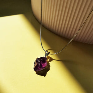 Load image into Gallery viewer, Amethyst Raw Gemstone Necklace