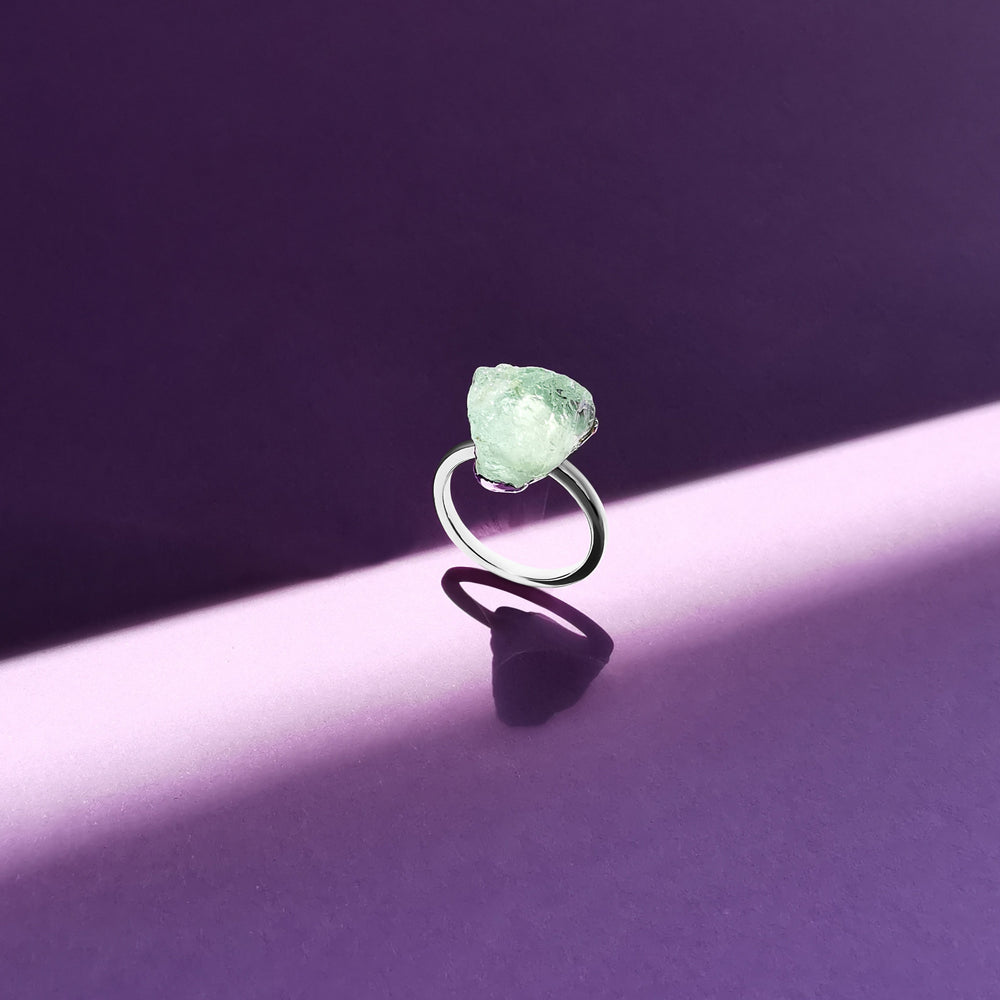Audrey Raw Gemstone Ring - Sterling Silver