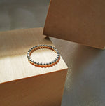 Mae Sterling Silver Beaded Ring for Woman