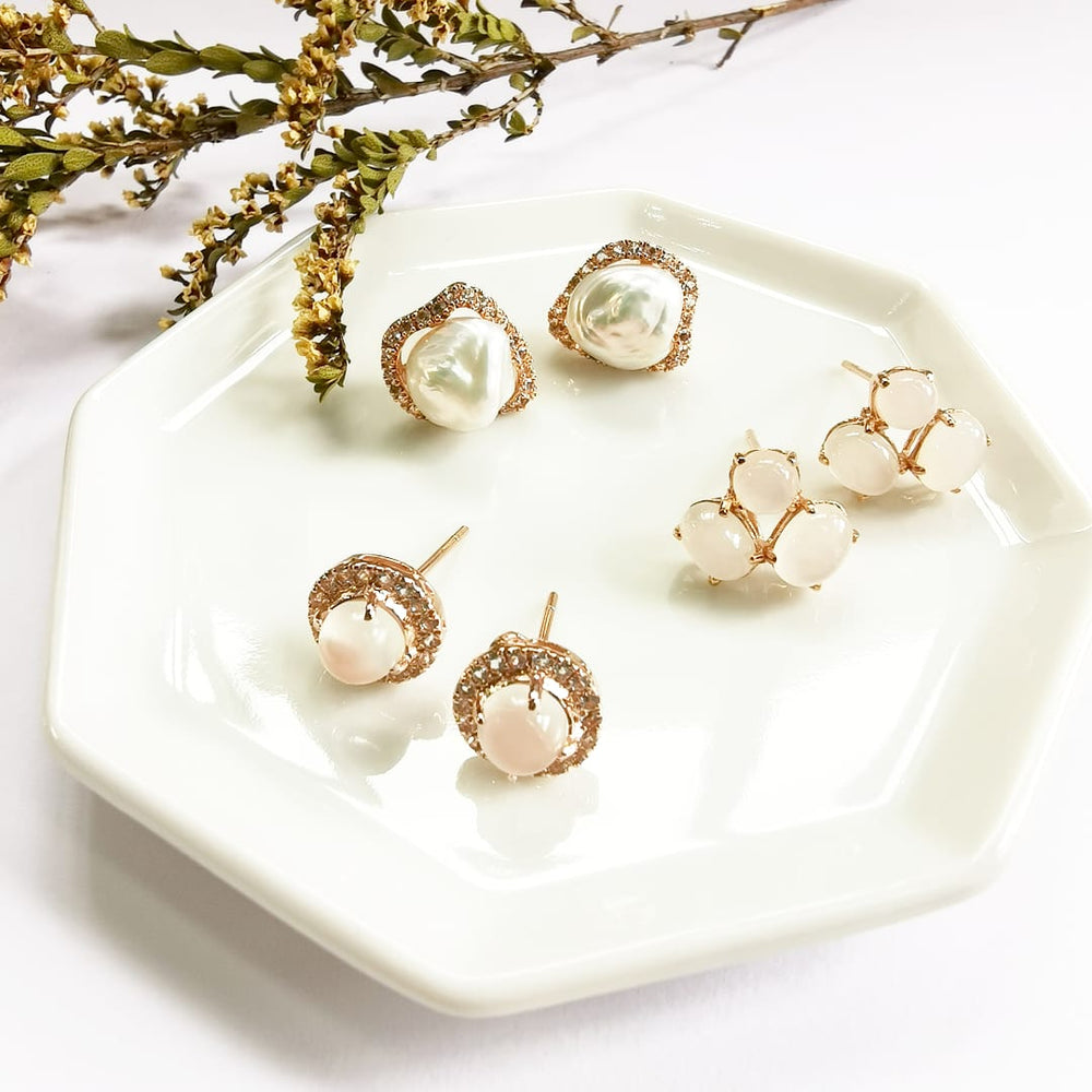 Buy Trio Moonstone Earrings