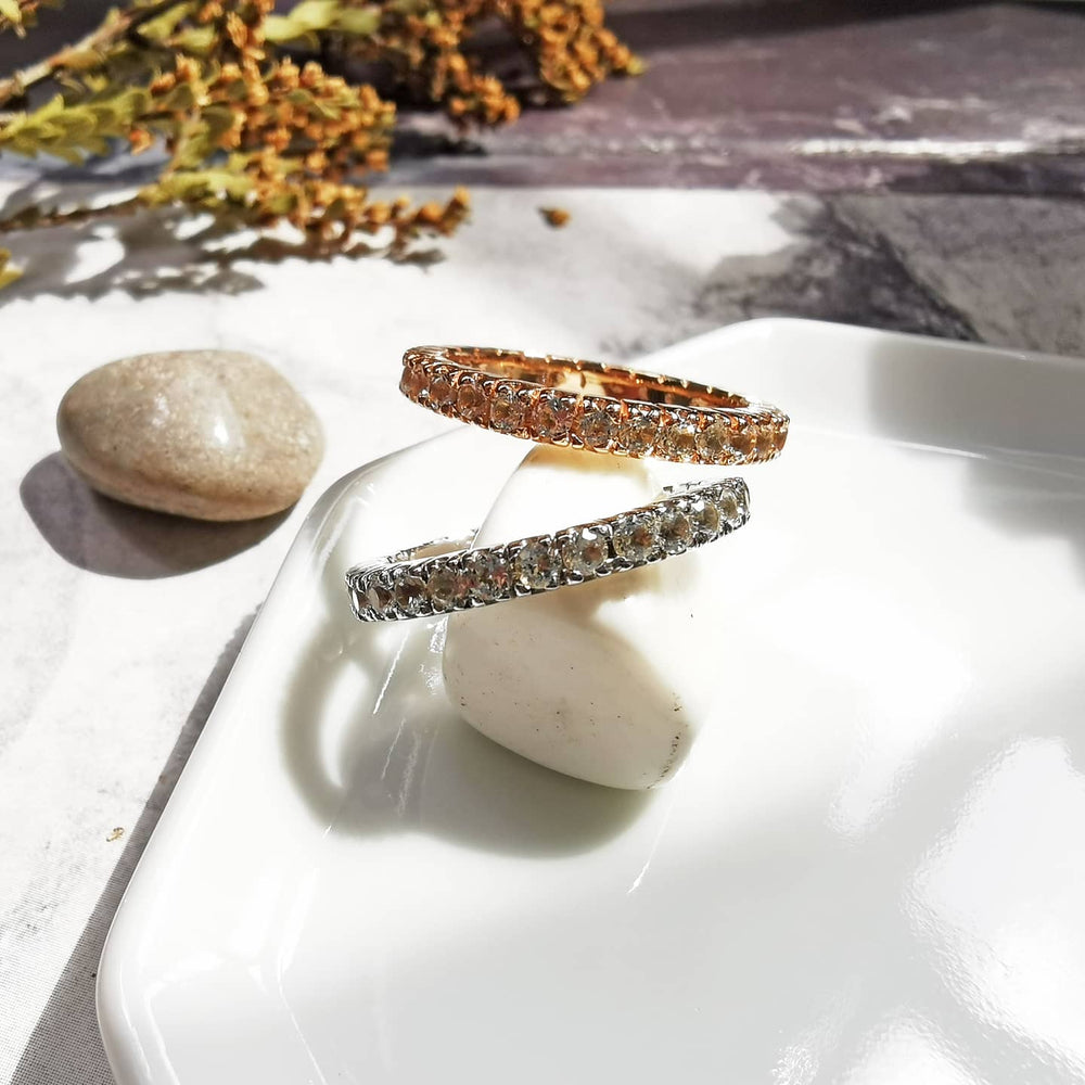 Brielle White Topaz Eternity Ring
