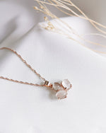 Audrey Moonstone Trio Necklace - Rose Gold Plated