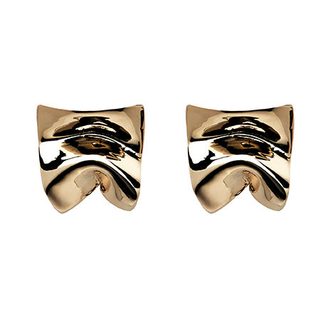 Divine Sterling Silver & 18K Gold Plated Stud Earrings